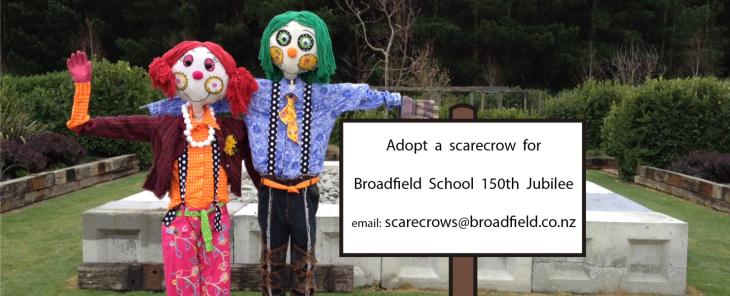 Adopt a scarecrow sign